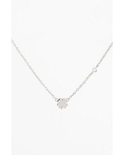 Shy By Sydney Evan | Metallic Clover Necklace | Lyst