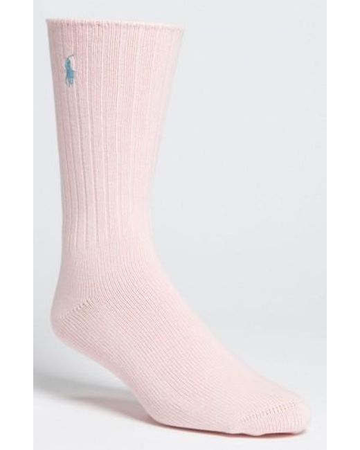 Polo Ralph Lauren | Pink Crew Socks for Men | Lyst