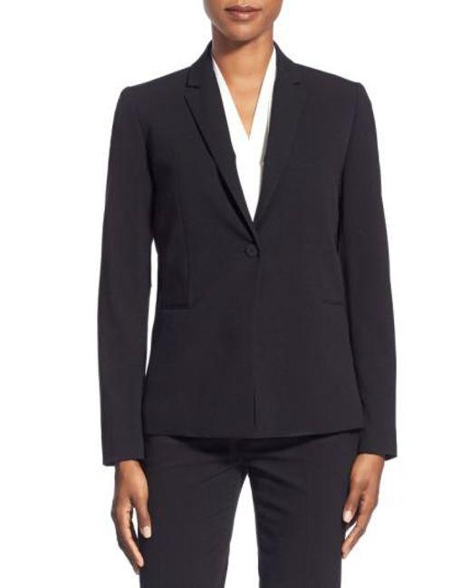 T Tahari   Black Jolie Stretch Woven Suit Jacket   Lyst