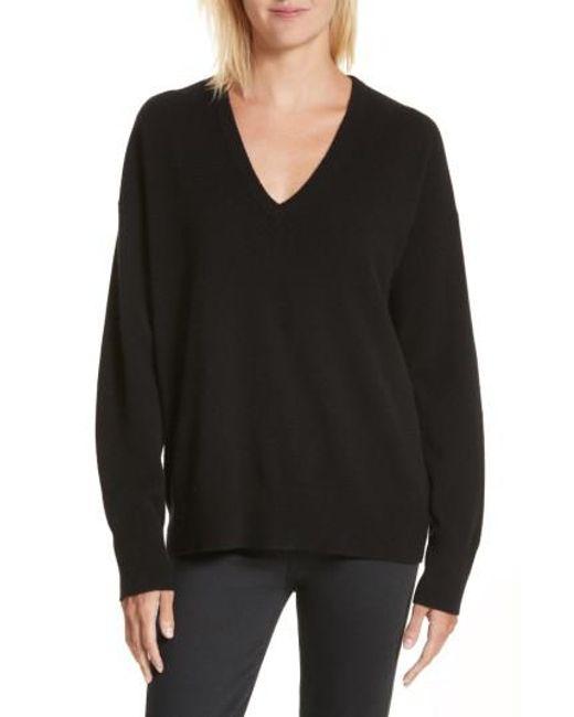 Equipment   Black Lucinda V-neck Cashmere Pullover   Lyst