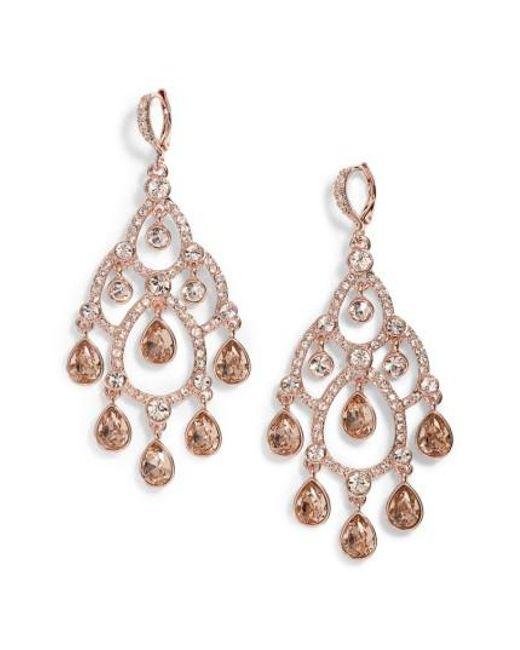 Givenchy | Metallic Open Crystal Chandelier Earrings | Lyst