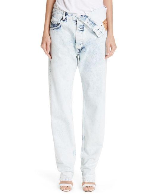 Y. Project - White Asymmetrical Waist Jeans - Lyst