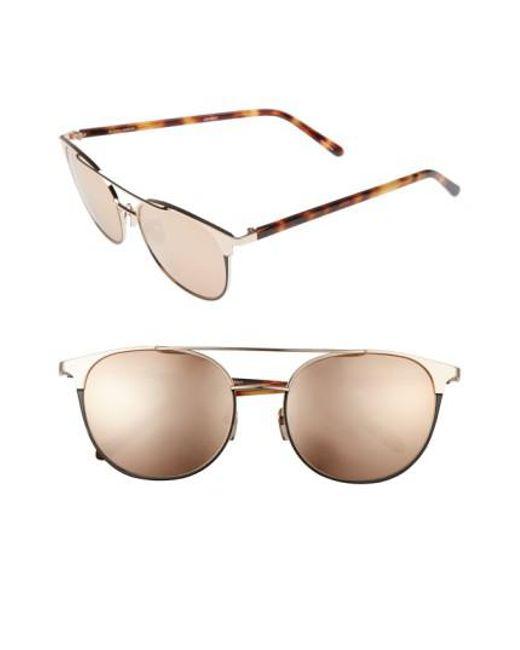 Aviator-style Rose Gold-plated Mirrored Sunglasses - Metallic Linda Farrow 2N32QOW