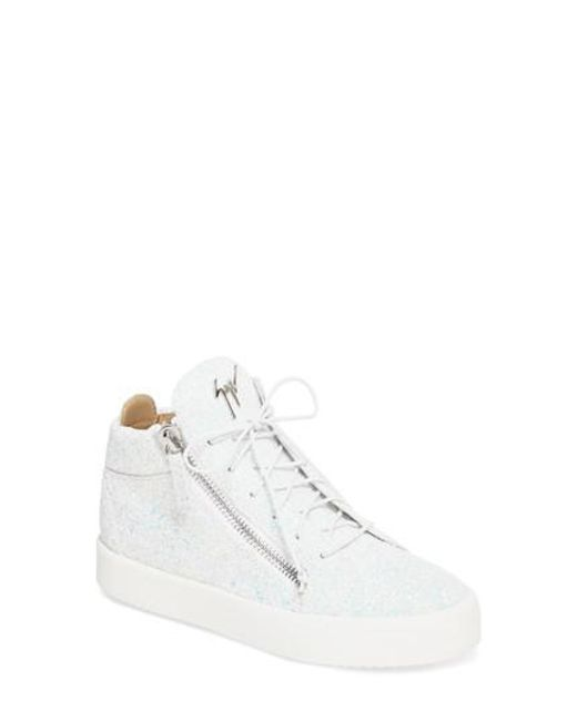 Giuseppe Zanotti White May London High-Top Sneakers 6tWOaeKRGU