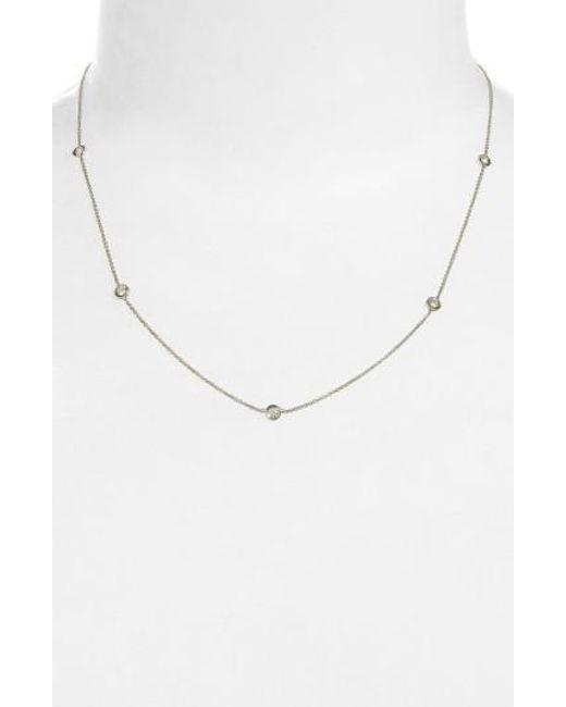 Roberto Coin   Metallic Diamond Seven Station Necklace   Lyst