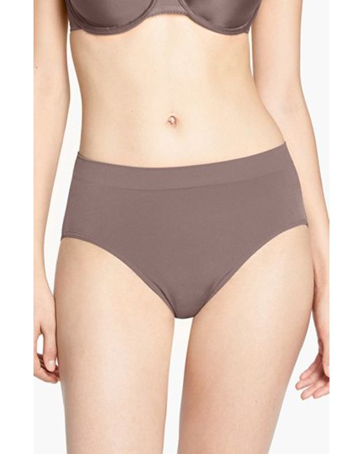 Wacoal | Brown B Smooth High Cut Briefs | Lyst
