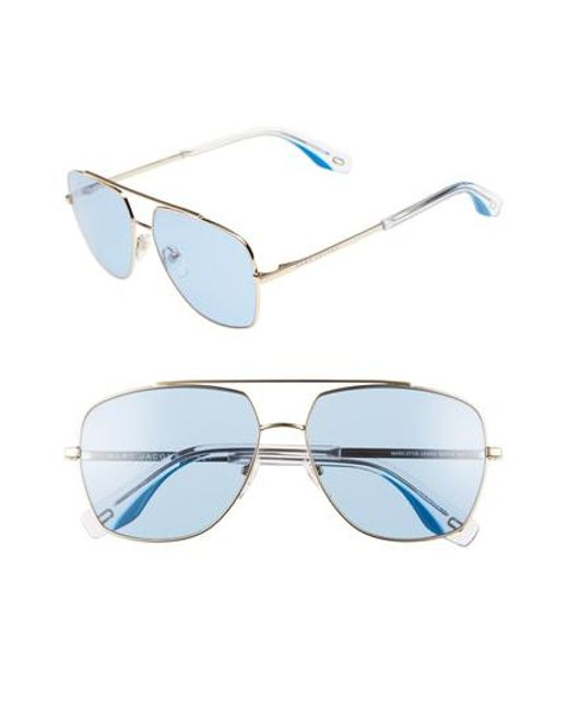 Marc Jacobs - Blue 58mm Navigator Sunglasses - Lyst