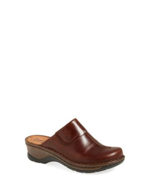 Josef Seibel | Brown Heeled Leather Mules  | Lyst