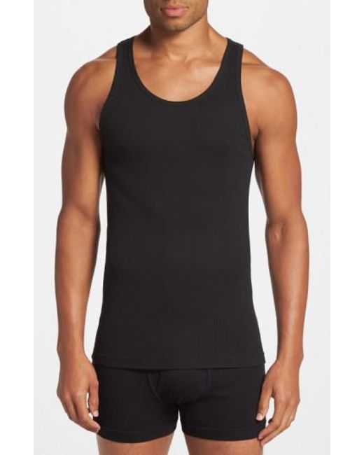 Calvin Klein | Classic Fit 3-pack Cotton Tank Top, Black for Men | Lyst