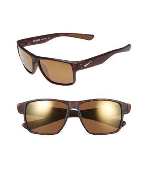 Nike   Brown 'mavrk' 59mm Sunglasses   Lyst