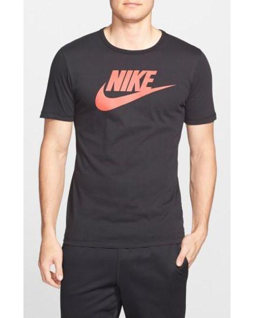 Nike   Black Tee-Futura Icon Graphic T-Shirt for Men   Lyst