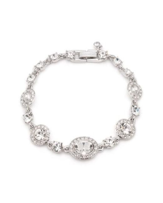 Givenchy - Metallic Faceted Stone And Pavé Link Bracelet - Lyst