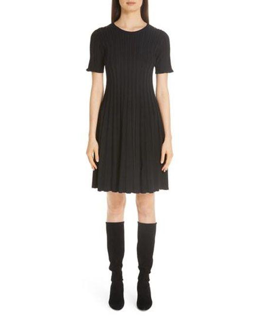0bb7eba0a437e Lafayette 148 New York - Black Metropolitan Shine Structured Rib Dress -  Lyst