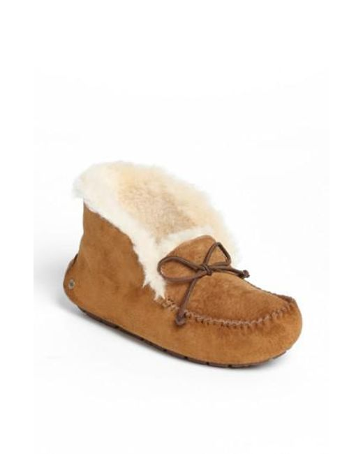 Ugg - Brown Uggpure Alena Suede Slipper Boots - Lyst