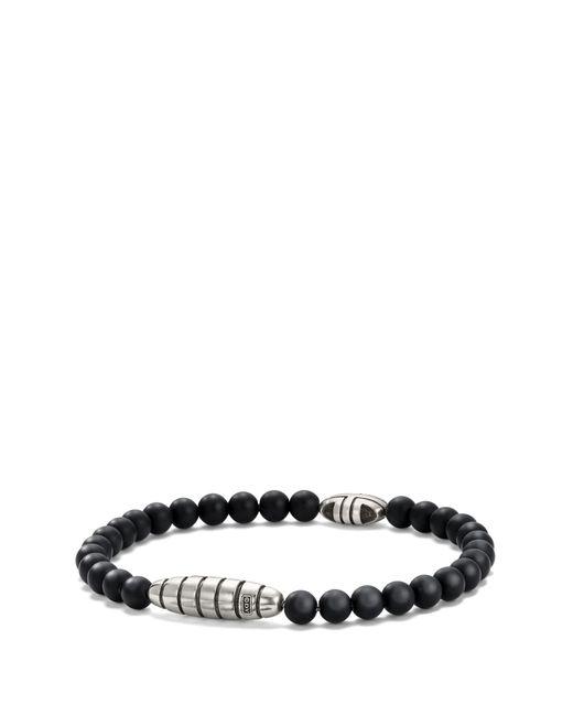 David Yurman Southwest Bead Bracelet In Black Onyx for men