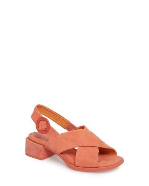 Camper - Pink Kobo Cross Strap Sandal - Lyst