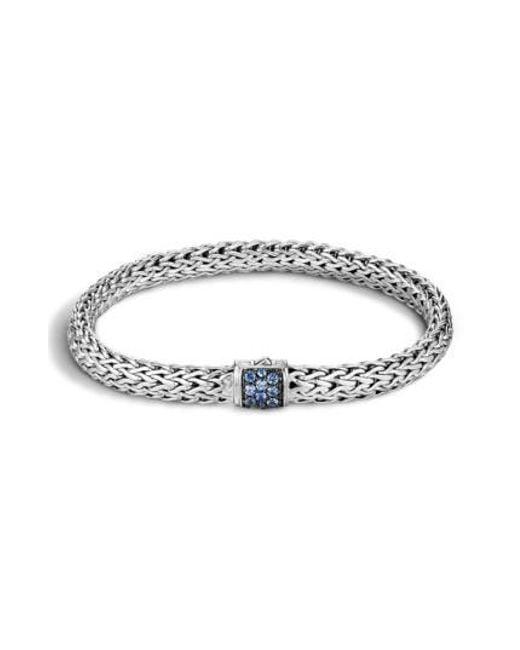 John Hardy | Blue 'classic Chain' Small Bracelet | Lyst