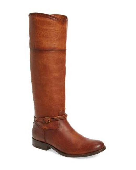 Frye   Brown Melissa Seam Boot   Lyst