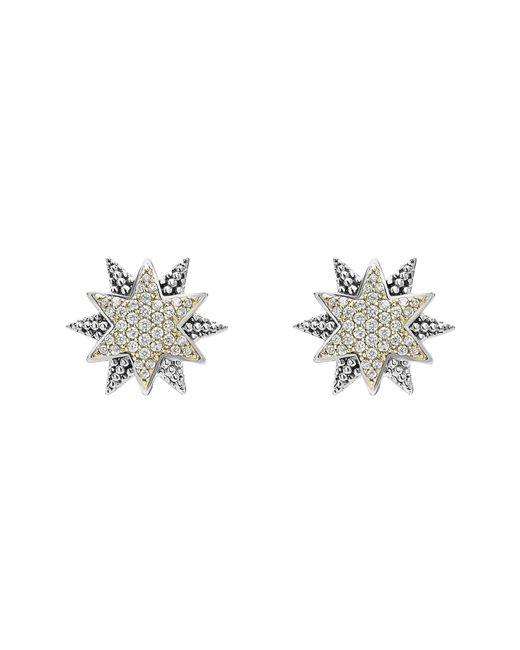 Lagos - Metallic North Star Diamond Omega Earrings - Lyst