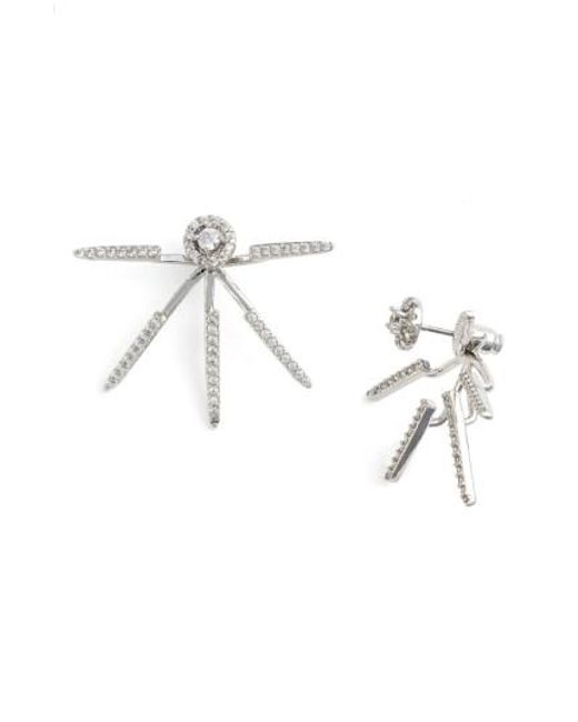 CZ by Kenneth Jay Lane | Metallic Pave Cubic Zirconia Ear Jackets | Lyst