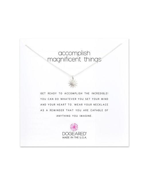 Dogeared - Metallic Starburst Pendant Necklace - Lyst