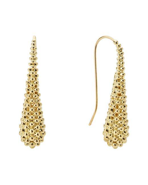 Lagos - Metallic Caviar Gold Collection 18k Gold Drop Earrings - Lyst