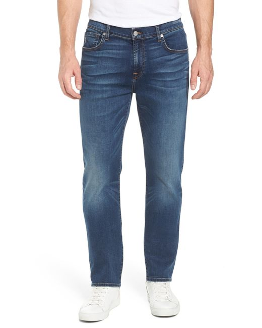 7 For All Mankind - Blue 7 For All Mankind The Straight - Luxe Performance Slim Straight Leg Jeans for Men - Lyst