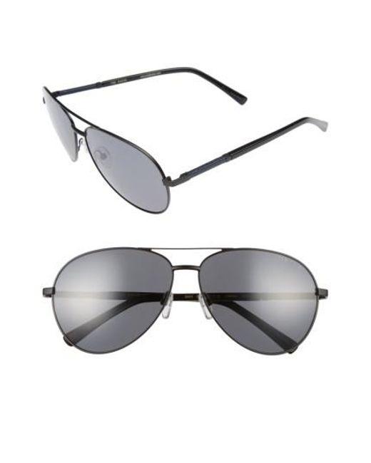 Ted Baker | Black 62mm Polarized Aviator Sunglasses for Men | Lyst