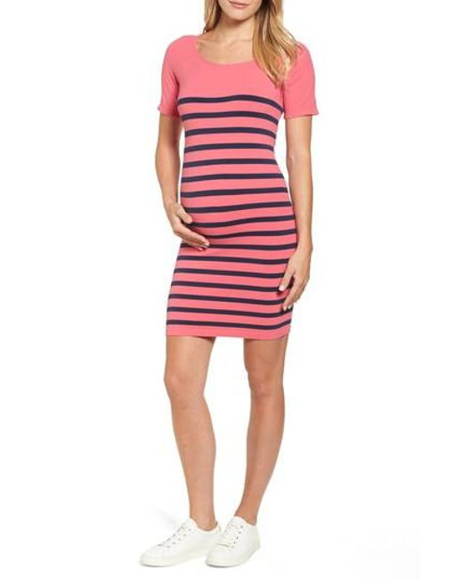 Tees by Tina - Blue 'nautical' Short Sleeve Maternity Dress - Lyst