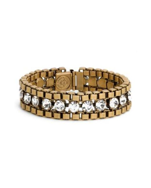 Loren Hope | Metallic 'carly' Crystal & Chain Bracelet | Lyst