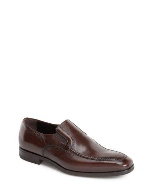 Santoni | Brown 'blaze' Venetian Loafer for Men | Lyst