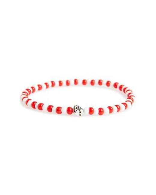 Luis Morais | Red Silver Die Stretch Bracelet | Lyst