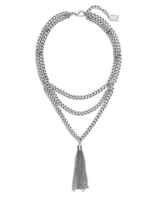 Karine Sultan | Metallic Layered Y-necklace | Lyst