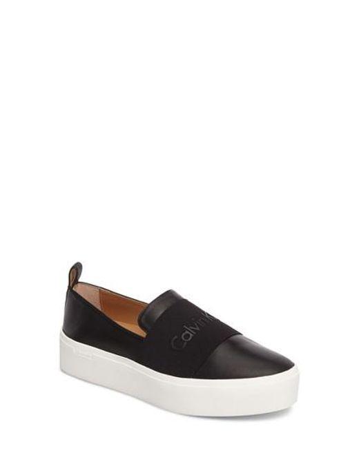 Calvin Klein | Black Jacinta Platform Sneaker | Lyst
