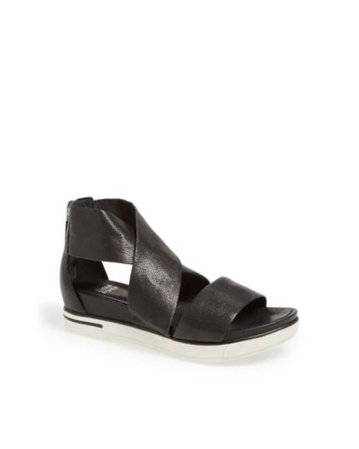 Eileen Fisher   Black Sport Platform Sandal   Lyst