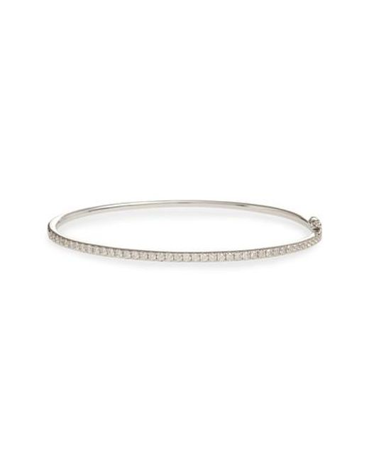 Bony Levy - Metallic 'stackable' Large Skinny Diamond Bangle (nordstrom Exclusive) - Lyst
