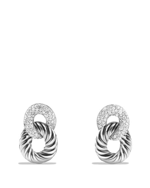 David Yurman - Metallic Belmont Curb Link Drop Earrings With Diamonds - Lyst