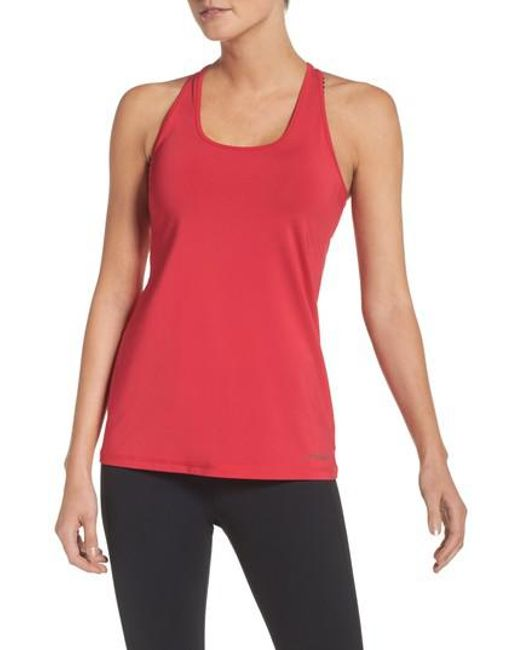 Brooks   Red 'go-to' Racerback Tank   Lyst