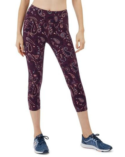 Sweaty Betty - Purple Power Workout Crop Leggings - Lyst