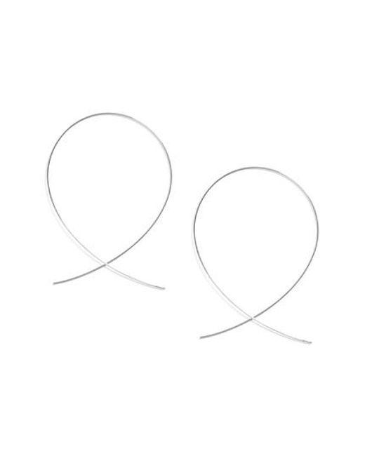 Lana Jewelry | White 'large Upside Down' Hoop Earrings | Lyst
