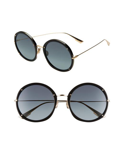 0d146584f9 Dior - Black Hypnotic 56mm Round Sunglasses - Lyst ...