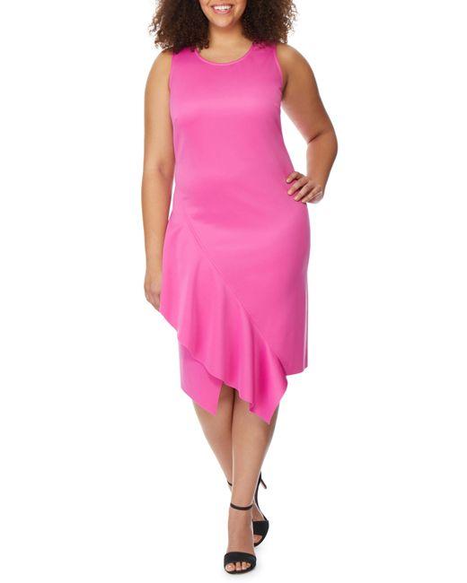 REBEL WILSON X ANGELS - Pink Asymmetrical Hem Ruffle Dress - Lyst