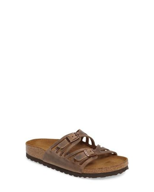 Birkenstock - Brown Granada Soft Footbed Oiled Leather Sandal - Lyst