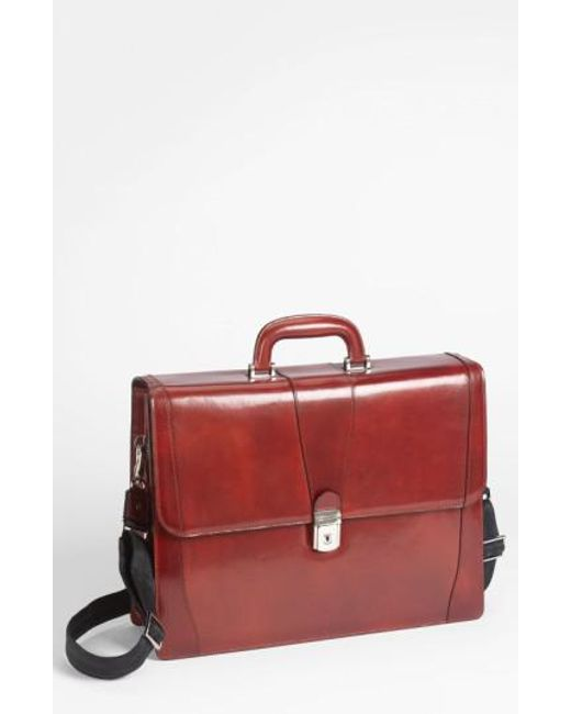 Bosca | Red Double Gusset Briefcase for Men | Lyst