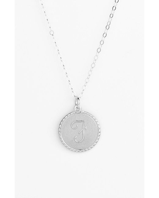 Moon & Lola - Metallic 'dalton' Initial Pendant Necklace - Lyst