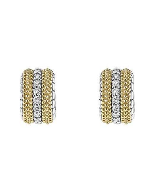 Lagos - Metallic Lux Diamond Hoop Earrings - Lyst
