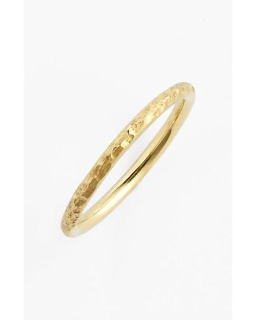 Bony Levy | Metallic Hammered 14k Gold Midi Ring (nordstrom Exclusive) | Lyst