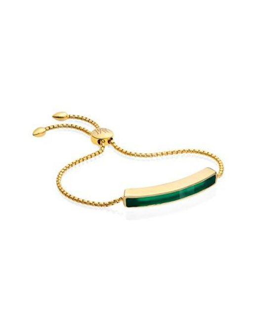 Monica Vinader | Green 'baja' Stone Bracelet | Lyst