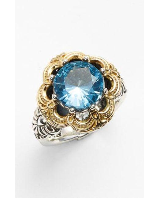 Konstantino - Metallic 'hermione' Semiprecious Stone Ring - Lyst