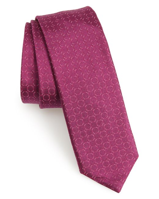 BOSS - Purple Geometric Silk Tie for Men - Lyst
